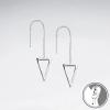 Boucles oreilles En Argent Massif Avec Triangle Ajouré SE1818