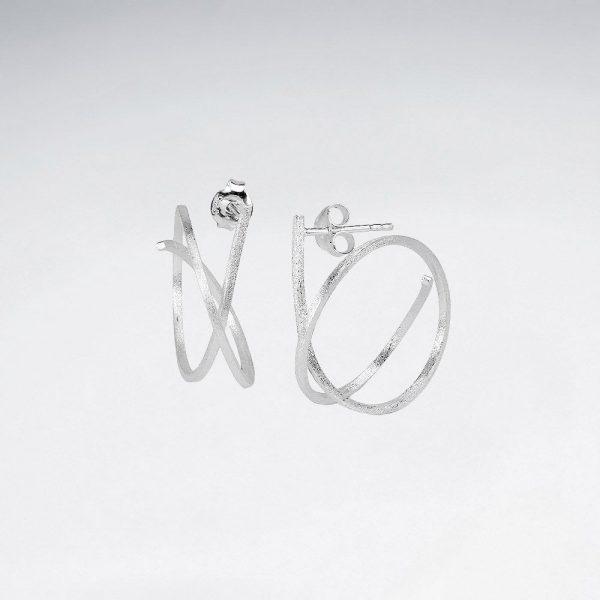 Boucles oreilles Spirale Abstraites SE2286M