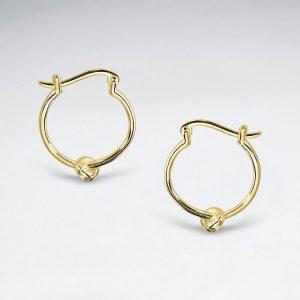 boucles d oreilles argent massif avec noeud amour SE2564Y