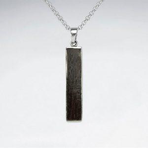 Pendentif Argent 925 Force en bois