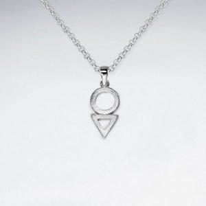 Pendentif Cercle et Triangle ajourées