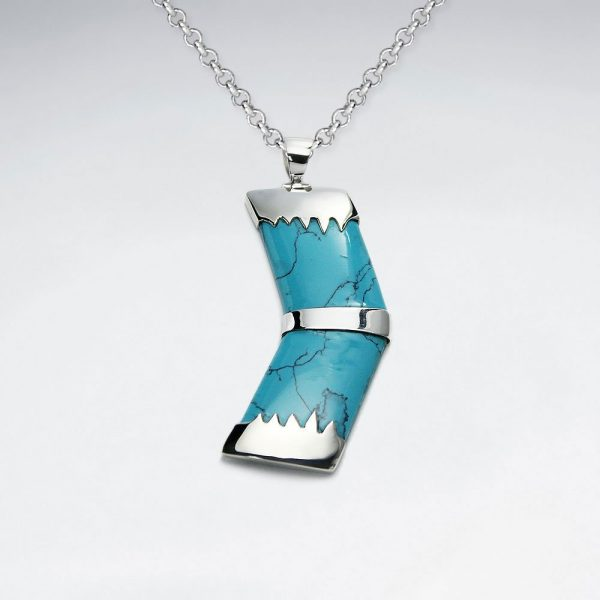forward blue howlite silver pendant p2090 7745 zoom