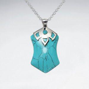Pendentif en Argent Howlite Turquoise