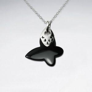 designers choice black stone organic shape pendant p4643 13174 zoom