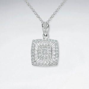 double square silver cz pendant p2153 7824 zoom