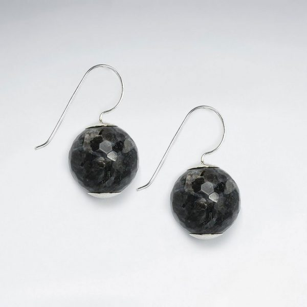 14 mm round faceted labradorite dangling earring p1790 7146 zoom