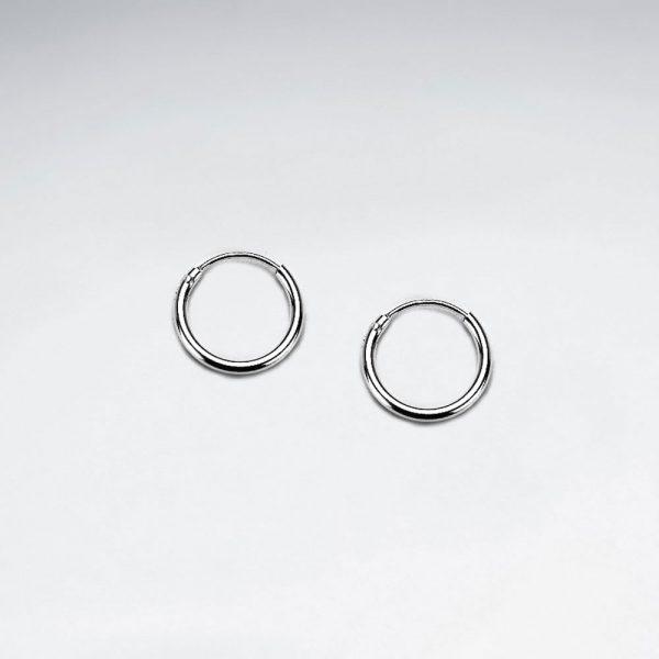 Boucle Oreille Huggie en Argent 925 classique Ø 12 mm