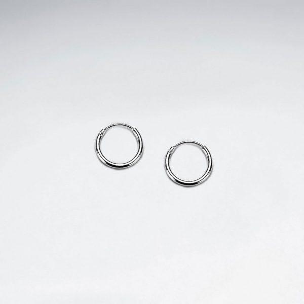 Boucle Oreille Huggie en Argent 925 classique Ø 10 mm