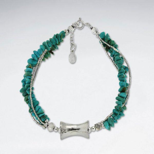 Bracelet Argent 925 avec Argent & Turquoise