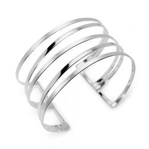 Bracelet Manchette Argent Déesse Ouvert Exclusif