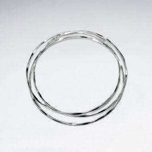 Bracelet Jonc Argent Massif Superposable
