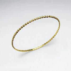 Bracelet Jonc Chaine Argent Plaqué Or 1