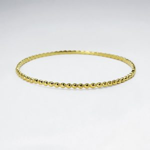 Bracelet Jonc Chaine Argent Plaqué Or
