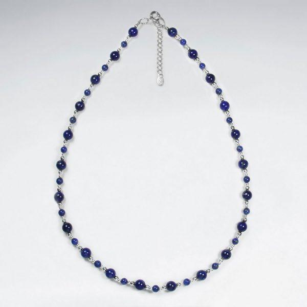 Collier Argent 925 avec Perle Lapis Lazuli