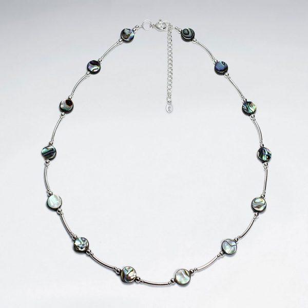 Collier Argent Perles Ormeau