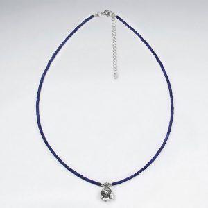 Collier Argent avec Perle Lapis Lazuli