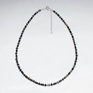 Collier de Perle Agate Perles en Argent 925