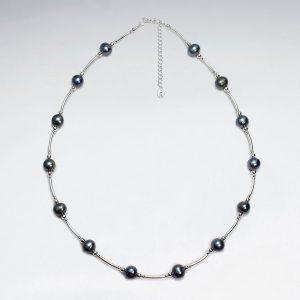 Collier en Argent avec Perles de Culture