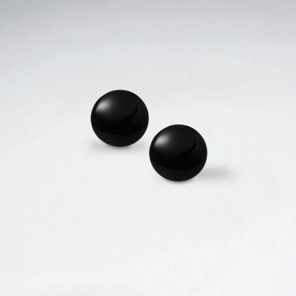Puce D'Oreille Pierre Noir Rond Ø 12 mm
