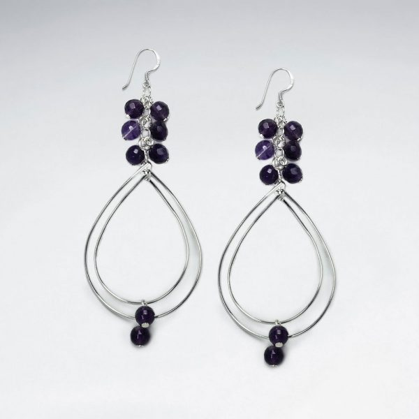 amethyst charms and silver wirework teardrop dangle earrings p4566 13030 zoom