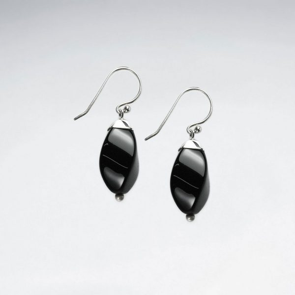 black stone suave silhouette dangle hook earrings p4484 12942 zoom