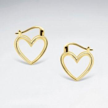 Boucles dOreilles Cliquet a Coeur Ouvert Or