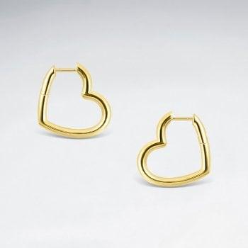 Boucles dOreilles Huggie Articulé Coeur Ouvert BES2862Y
