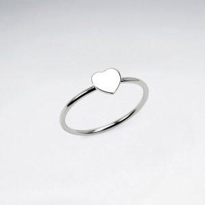 Bague Simple Coeur en Argent