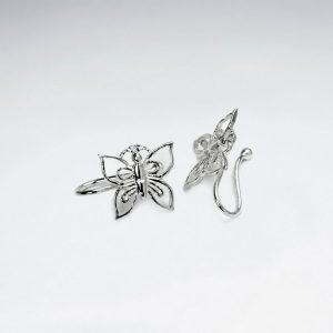 Bague d'Oreille en Argent Papillon Filigrane