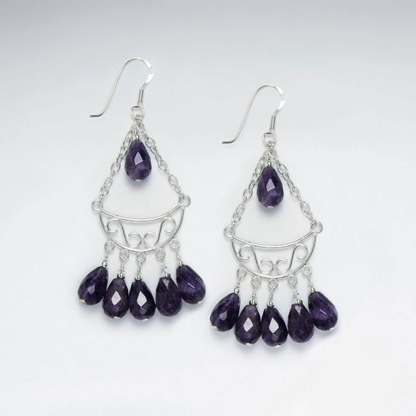 chandelier silver earring with dangling faceted amethyst p1778 7127 zoom