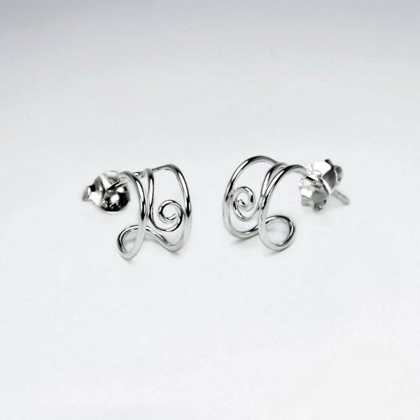 Boucles d'Oreilles 925 Demi Cercle