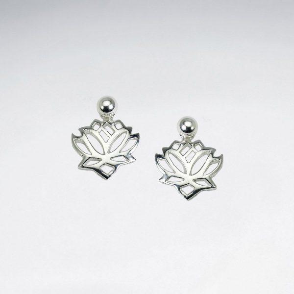 Boucles d'Oreilles Argent Lotus Ajourées