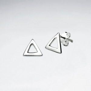 Boucles d'Oreilles Argent Triangle Ajourées Minimalisme