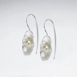 Boucles d'Oreilles Elégante avec Perle Culture