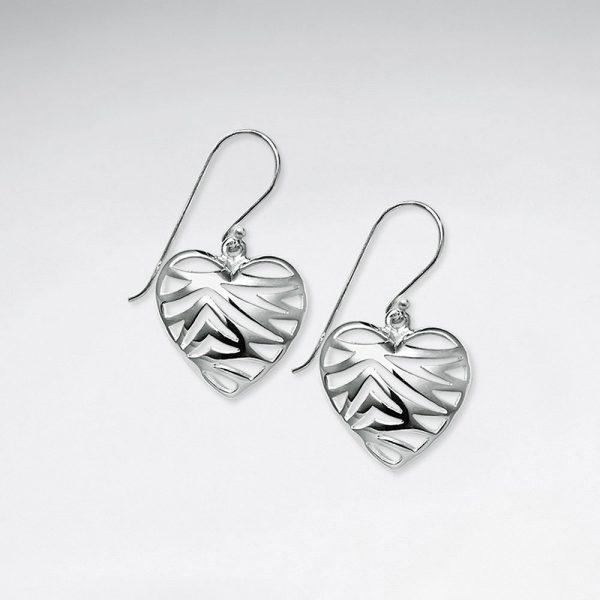 Boucles d'Oreilles Coeur Romantique en Argent 925