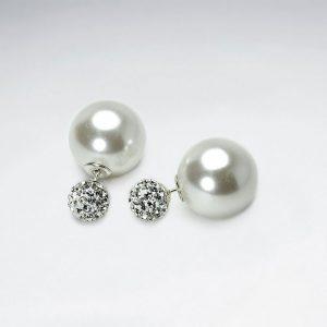 Boucles d'Oreilles Perle Synthétique Blanc