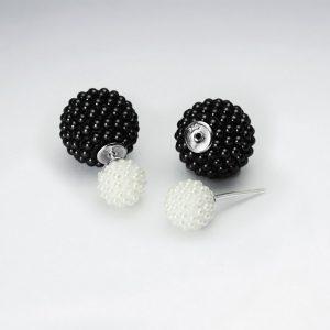 Puce d'Oreille Boucle Perle Synthétique Perle Couleur Noir